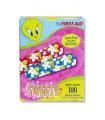 "Dukal Adhesive Strip Stat Strip® .75 x 3"" Plastic Rectangle Kid Design (Looney Tunes / Tweety) Sterile, 100/Box"