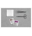 "Cardinal Health Suture Removal Kit, with Adson Forceps, Straight Iris Scissors, 4-1/2"", PVP Prep Pad"