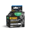 "Medline CURAD Performance Series Kinesiology Tape, Black, Precut 2"" x 10"" Strips"